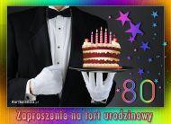 eKartki Zaproszenia Zapraszam na tort urodzinowy 80,