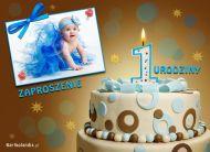 eKartki elektroniczne z tagiem: 1 urodziny Zaproszenie na 1 urodziny,