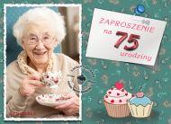 eKartki Zaproszenia Zaproszenie na 75 urodziny,