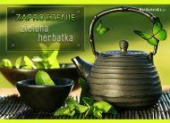 eKartki Zaproszenia Zielona herbatka,