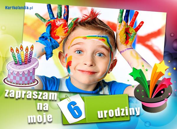 eKartki elektroniczne z tagiem: Kartki elektroniczne darmo Szóste urodziny,