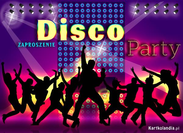 eKartki elektroniczne z tagiem: Kartki elektroniczne darmo Zaproszenie na Disco Party,