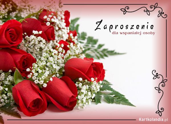 Zaproszenie pełne róż
