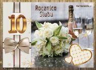 eKartki Zaproszenia 10 Rocznica ¦lubu,