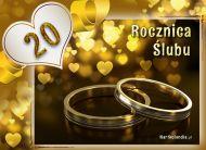 eKartki elektroniczne z tagiem: e-Kartki zaproszenia na Rocznicę Ślubu 20 Rocznica Ślubu,