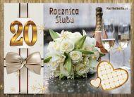 eKartki Zaproszenia 20 Rocznica ¦lubu,