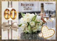 eKartki elektroniczne z tagiem: e-Kartki zaproszenia na Rocznicę Ślubu 60 Rocznica Ślubu,