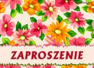 eKartki Zaproszenia Kwieciste Zaproszenie,