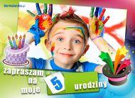 eKartki elektroniczne z tagiem: Darmowe kartki zaproszenia na urodziny Piąte urodziny,