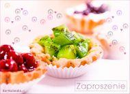 eKartki elektroniczne z tagiem: e-Kartki zaproszenia na deser Pyszny deser,