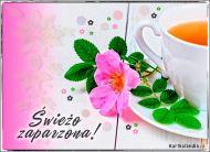 eKartki elektroniczne z tagiem: Herbata kartki elektroniczne Świeżo zaparzona,