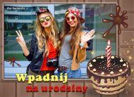 eKartki elektroniczne z tagiem: Darmowe kartki zaproszenia na urodziny Wpadnij na urodziny!,