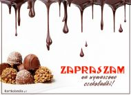 eKartki elektroniczne z tagiem: e Kartka zaproszenie na deser Wymarzone czekoladki,