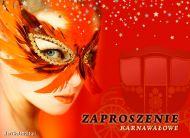 eKartki elektroniczne z tagiem: Zaproszenia do tañca Zaproszenie karnawa³owe,