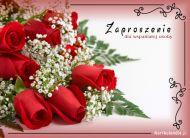 eKartki Zaproszenia Zaproszenie pełne róż,