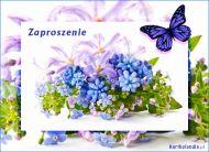 eKartki Zaproszenia Zaproszenie us³ane kwiatami,