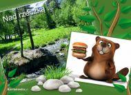 eKartki elektroniczne z tagiem: Kartki zwierzęta Nad rzeczką,