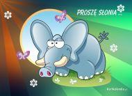 eKartki Zwierzęta Proszę słonia,