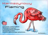 eKartki Zwierzęta Karmazynowy Flaming,