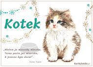 eKartki elektroniczne z tagiem: Kot Kotek,