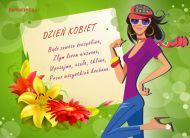 eKartki elektroniczne z tagiem: Dzień Kobiet kartki darmowe Bądź zawsze szczęśliwa,