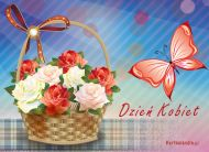 eKartki Dzień Kobiet Kosz pełen róż,