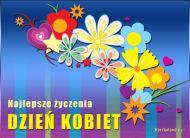 eKartki Dzień Kobiet Kwiatowe życzenia,