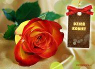 eKartki Dzień Kobiet Róża z życzeniami,