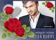 eKartki elektroniczne z tagiem: Dzień Kobiet kartki darmowe Róże na Dzień Kobiet,