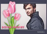eKartki Dzieñ Kobiet ¦wi±teczne tulipany,