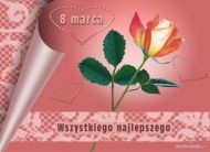 eKartki Dzieñ Kobiet Wszystkiego najlepszego 8 marca,