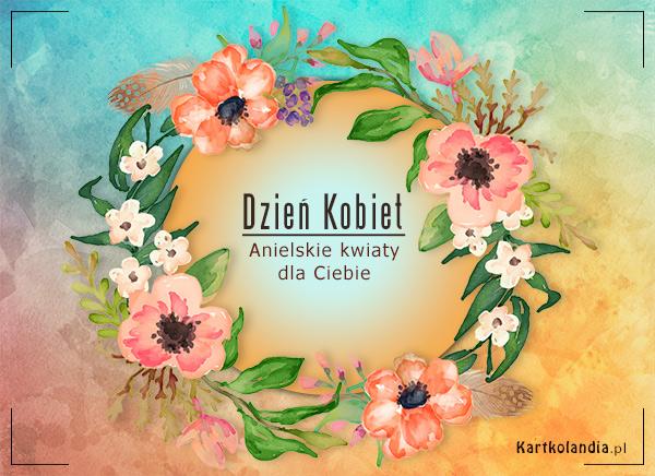 eKartki Dzień Kobiet Anielskie kwiaty,