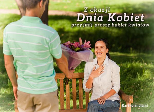eKartki Dzień Kobiet Bukiet pełen życzeń!,