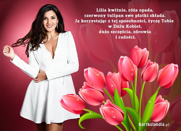 eKartki Dzień Kobiet Czerwone tulipany dla Ciebie,