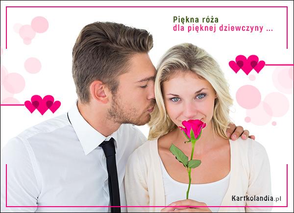 eKartki Dzień Kobiet Róża dla pięknej dziewczyny,