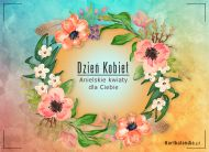 eKartki elektroniczne z tagiem: Kartki Dzień Kobiet z melodią Anielskie kwiaty,