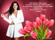 eKartki elektroniczne z tagiem: Kartki Dzień Kobiet z melodią Czerwone tulipany dla Ciebie,