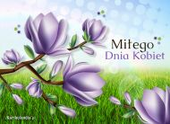 eKartki elektroniczne z tagiem: Kwiaty Gdy nadejdzie Dzień Kobiet,