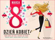 eKartki elektroniczne z tagiem: Kartki Dzień Kobiet z melodią Magia Dnia Kobiet,