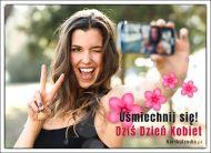 eKartki Dzień Kobiet Uśmiechnij się w Dzień Kobiet,