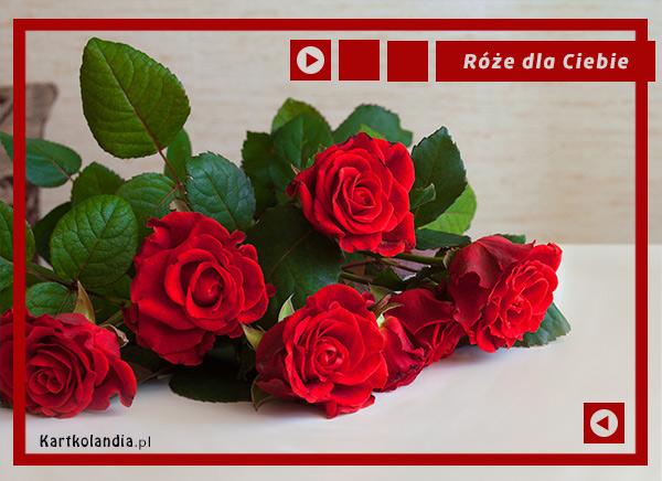 eKartki Imieninowe Piękne róże dla Ciebie,