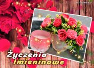 eKartki Imieninowe Kartka pełna róż,