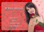 eKartki Imieninowe Ofiaruję Ci różę,