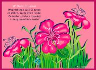 eKartki Imieninowe Ogród pełen życzeń,
