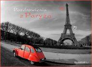 eKartki Wyraź uczucia -> Pozdrowienia Pozdrowienia z Paryża,