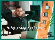 eKartki Wyraź uczucia -> Pozdrowienia Miłej pracy Kochanie!,