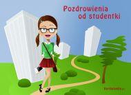 eKartki Wyra¼ uczucia Pozdrowienia od studentki,