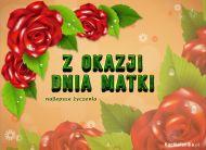 eKartki Dzień Matki Kartka pełna róż,