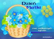 eKartki elektroniczne z tagiem: e Pocztówki online Koszyczek na Dzień Matki,