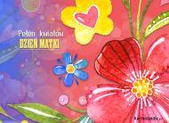 eKartki Dzień Matki Pełen kwiatów Dzień Matki,